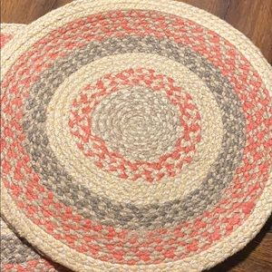Set of 8 braided country placemats
